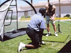 Zig Ziegler conducts a 3D Swing Analysis of a Blind Golfer using Audio Biofeedback to help improve the swing.