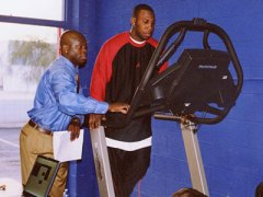 Zig Ziegler prepares Anquan Boldin for a 3D Biomechanics Assessment