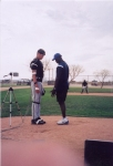 Zig Ziegler prepares to conduct a 3D Biomechanics Assessment on the pitching mechanics of a Chicago Whitesox pitcher during Spring Training.